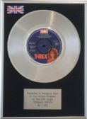 "T.REX - 7"" Platinum Disc - Teenage Dream"